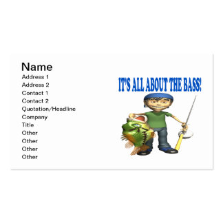 Its All About The Bass Pack Of Standard Business Cards