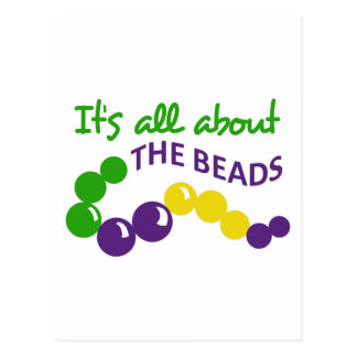 ITS ALL ABOUT THE BEADS POSTCARD