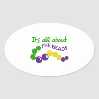 ITS ALL ABOUT THE BEADS OVAL STICKERS