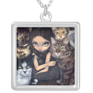 It's All About the Cats NECKLACE cat fairy