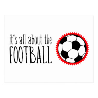 It's All About the Football Postcard