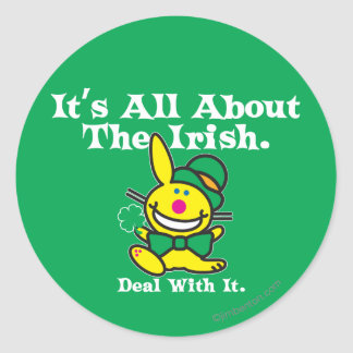 It's All About The Irish (green) Classic Round Sticker
