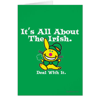 It's All About The Irish (green) Greeting Card
