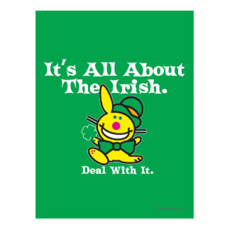 It's All About The Irish (green) Postcard