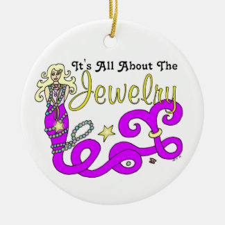 (It's All About The) Jewelry Mermaid Double Design Christmas Ornament