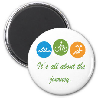 It's all about the journey - Triathlon Magnet