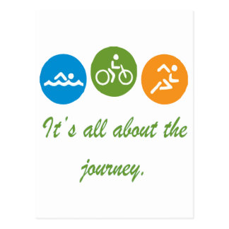 It's all about the journey - Triathlon Postcard
