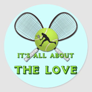 IT'S ALL ABOUT THE LOVE ROUND STICKER