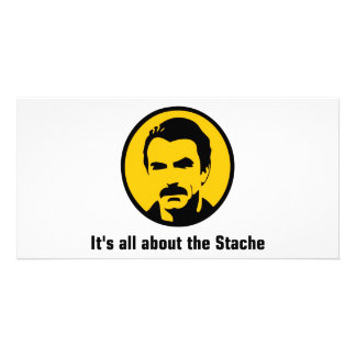 It's All About the Stache Photo Greeting Card