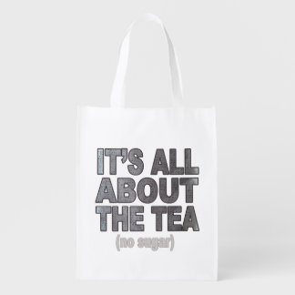 It's all about the tea Reuseable Shopping Bag