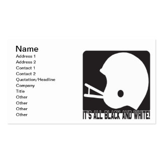 Its All Black And White Pack Of Standard Business Cards