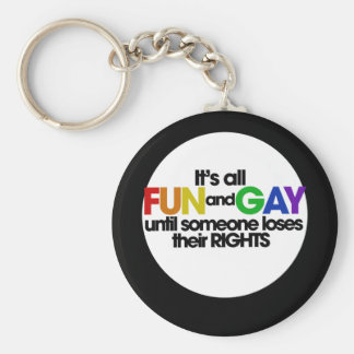 Its all fun and games basic round button key ring