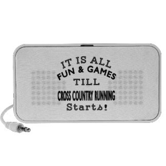 It's All Fun & Games Till Cross Country Running St iPhone Speakers