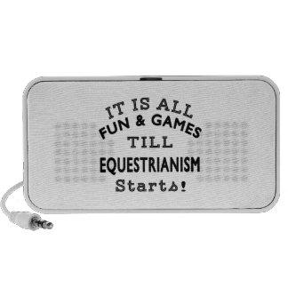 It's All Fun & Games Till Equestrianism Starts Mp3 Speakers