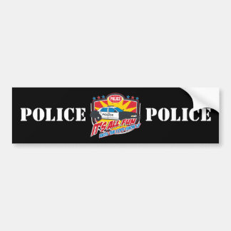 Its All Fun Police Bumper Sticker
