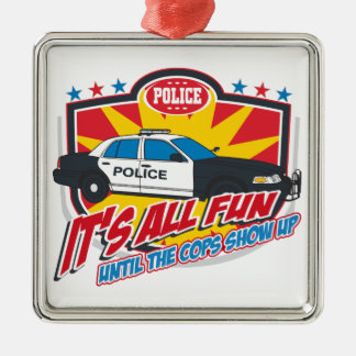 Its All Fun Police Christmas Ornament