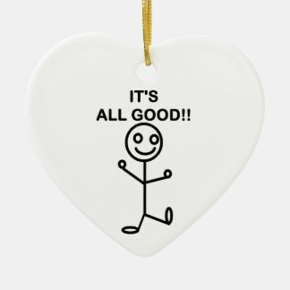It's All Good!! Ceramic Heart Decoration