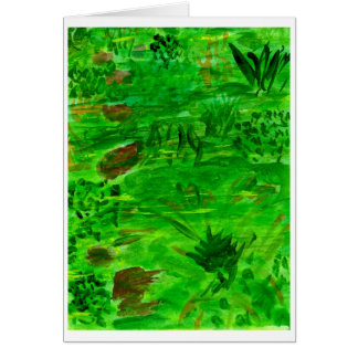 It's all green note card