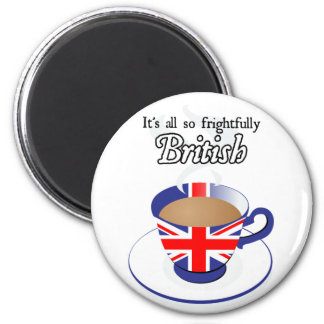 It's All So Frightfully British 6 Cm Round Magnet