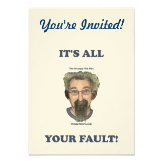 It's All Your Fault 13 Cm X 18 Cm Invitation Card