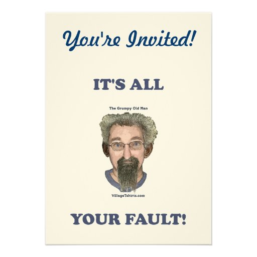 It's All Your Fault Personalized Announcement