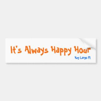 It's Always Happy Hour, Key Largo Fl Bumper Sticker