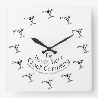 IT'S ALWAYS MARTINI TIME SOMEWHERE WALL CLOCK
