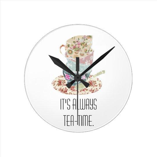 It's always tea-time - Wall Clock