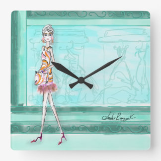 It's always time for fashion square wall clock
