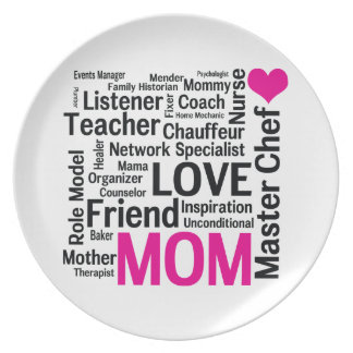 It's Amazing What Moms Can Do! Mothers Day Gift Plate