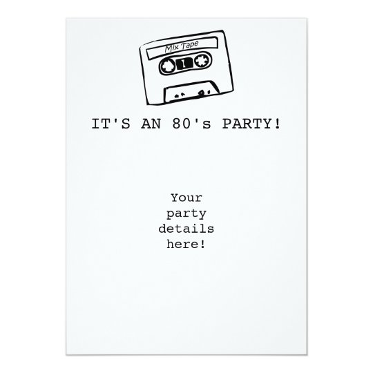 IT'S AN 80's PARTY! Invitations