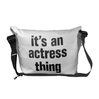 its an actress thing messenger bags