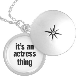 its an actress thing round locket necklace