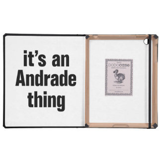 its an andrade thing iPad cover