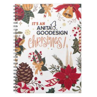 It's an Anita Goodesign Christmas Notebook! Notebooks