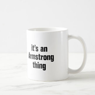 its an armstrong thing basic white mug