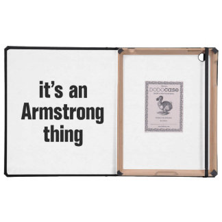 its an armstrong thing iPad covers