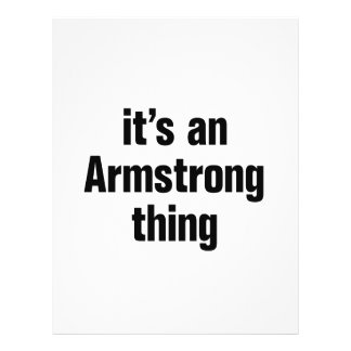 its an armstrong thing 21.5 cm x 28 cm flyer
