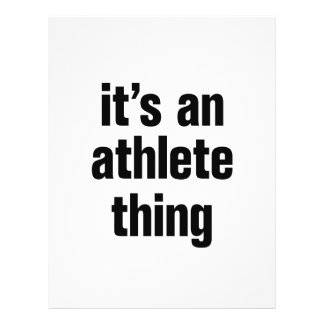 """its an athlete thing 8.5"""" x 11"""" flyer"""