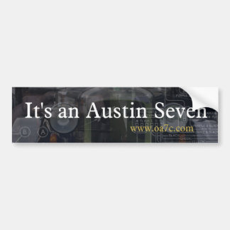 It's an Austin Seven bumper sticker