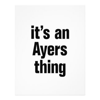 its an ayers thing 21.5 cm x 28 cm flyer