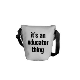 its an educator thing messenger bags