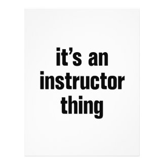 """its an instructor thing 8.5"""" x 11"""" flyer"""