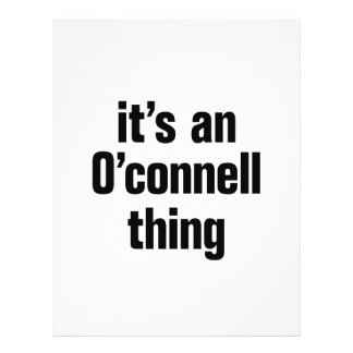 its an o connell thing 21.5 cm x 28 cm flyer
