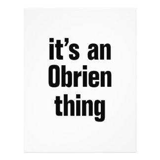 its an obrien thing 21.5 cm x 28 cm flyer