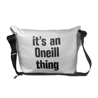 its an oneil thing courier bags