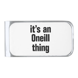 its an oneil thing silver finish money clip