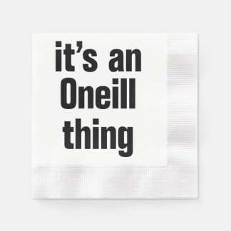 its an oneil thing coined cocktail napkin