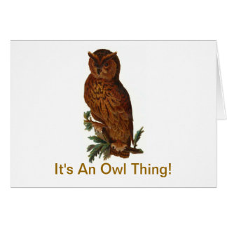 It's An Owl Thing Greeting Card