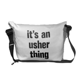 its an usher thing messenger bags